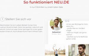 Über 11 Millionen Singles suchen auf Neu.de die große Liebe.