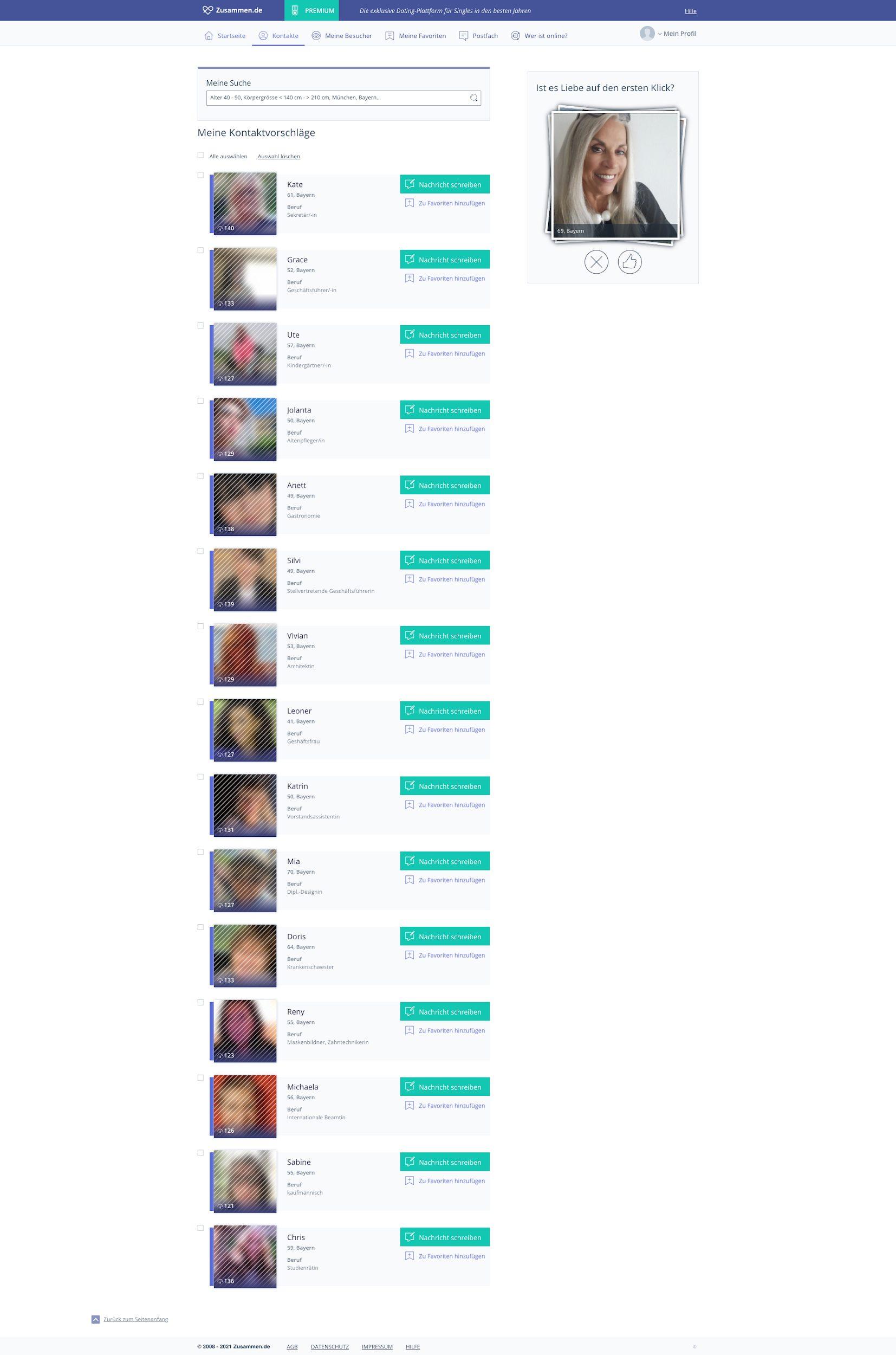 Viele echte Profile auf der Suche nach ernsthaften Kontakten